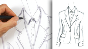Drawing a Notch Collar Lapel
