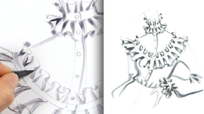 Drawing Ruffle Pleats