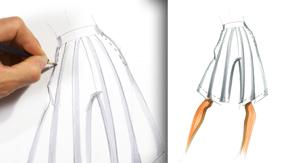 Drawing Side Pleats