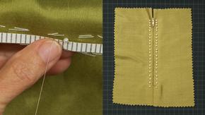 Embellished Prick-stitch Zipper