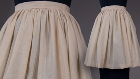 Gathered Skirt with Waistband