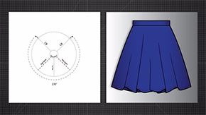 Three Quarter Circle Skirt