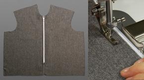 Exposed Separating Zipper