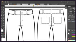 Drawing Pockets, Buttons and Belt Loops in AI – #3