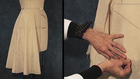 Flared Skirt Straight Grain Center