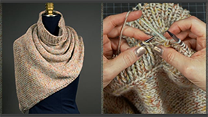 Image showing sample of lesson Knitting A Poncho Scarf
