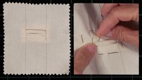 Handmade Bound Buttonhole