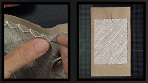 Sewing a Catchstitch