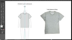 Womens T-Shirt Front Flat in AI – #13
