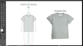 Women's T-Shirt Front Flat in AI – #13