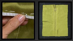 Embellished Prick Stitch Zipper