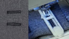 Machine-made Buttonholes: Straight & Keyhole