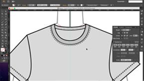 Womens T-Shirt Flat Details (Topstitch & Ribbing) in AI – #14