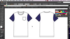 Women's T-Shirt Flat Details in AI – #15