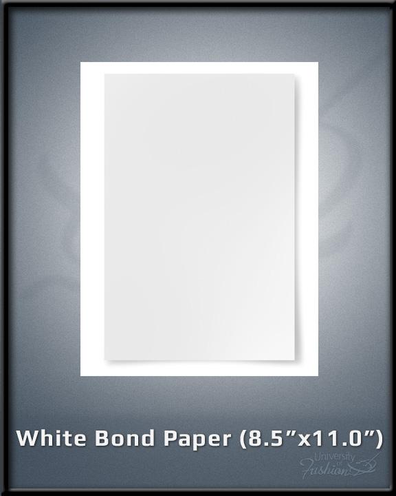 """White Bond Paper (8.5"""" x 11.0"""")"""