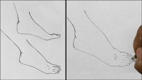 Drawing Female Feet: Profile/Three Quarter View
