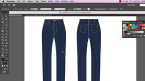 Basic Jean Front & Back Flat in AI – Part 3 – #18