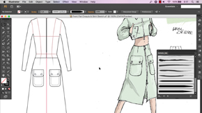 Front & Back Skirt View in AI – #19
