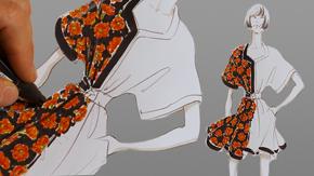 Rendering Floral Print