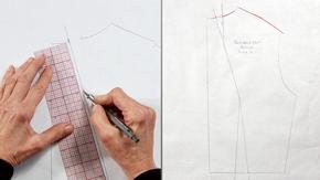 Pivoting a Back-Shoulder Dart to a Back-Neckline Dart