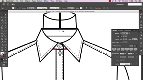Basic Button-Through Shirt in AI – Part 1 – #20