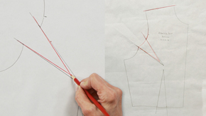 Pivoting a Front Shoulder Dart to an Armhole Dart