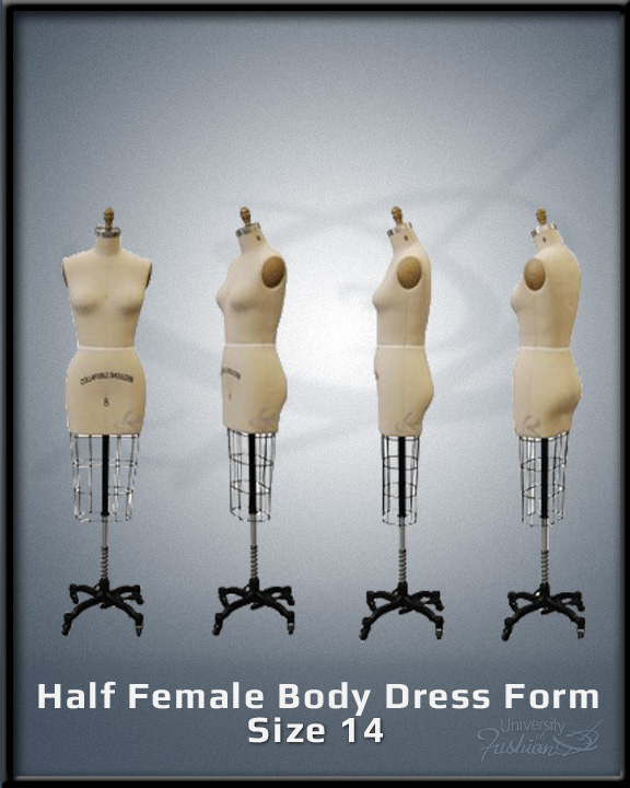 Half Female Body Dress Form Size 14