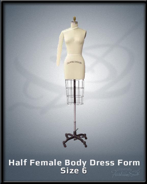 Half Female Body Dress Form Size 6