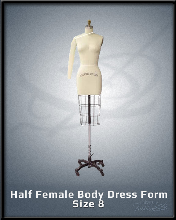 Half Female Body Dress Form size 8