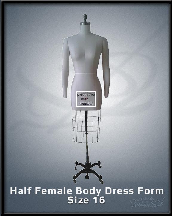 Half female Body Dress for size 16