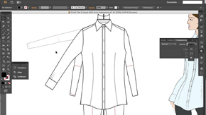 Basic Button-Through Shirt in AI – Part 2 – #21