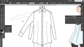 Basic Button-Through Shirt in AI – Part 2 – #21