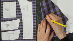 Pattern Layout on Plaid & Check Fabric