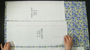 Pattern Layout on All Over Print Fabrics