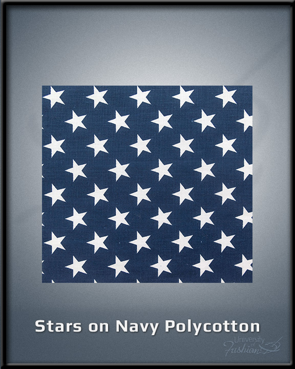 Stars on Navy Polycotton