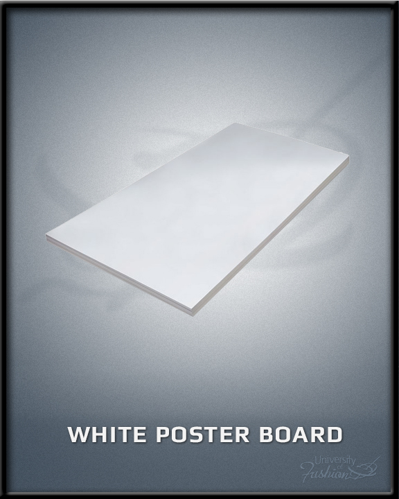 white poster board university of fashion