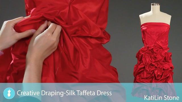 creative drapingstrapless taffeta dress university of