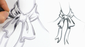 Drawing a Bow Tie Collar
