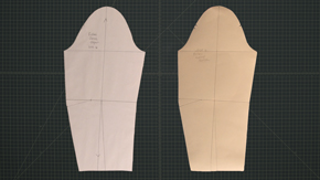 Transfer Suit Sleeve to Oaktag Sloper
