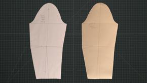 Transfer Suit Sleeve to Oaktag Sloper
