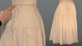 Flare Skirt Center Grain