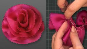 Bias-Cut Wrap Carnation