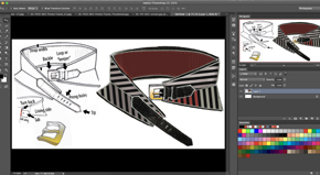 Intro To Photoshop for Accessories – Belt Design-#3