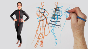 Model Drawing: Various Poses for Different Silhouettes