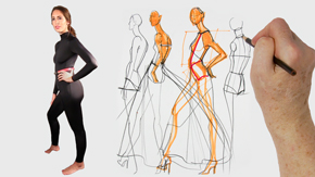 Model Drawing: Evening and Tailored Garments