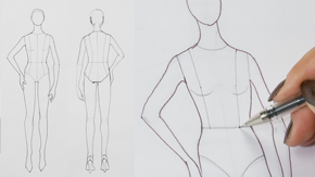 Drawing Female Frontal Figure Template