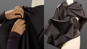 Creative Draping-Cocoon Jacket