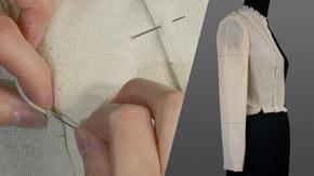 Pin-basting a Sleeve