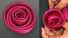 Bias-Cut Wrap Rose