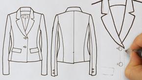 Jacket Flat Drawing